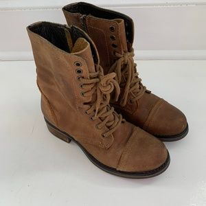 Steve Madden Troopa 2.0 Leather Combat Boot 8.5